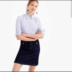 J. Crew Perfect Button-Up Shirt with Eyelet Blouse